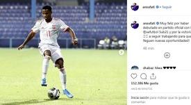 Ansu Fati dejó un mensaje en sus redes sociales. Instagram/ansufati