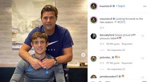 Maurizio Pochettino renovou seu contrato. Instagram/maurizio.8