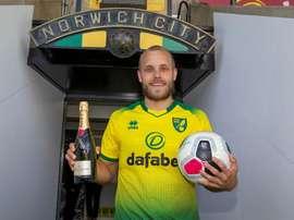 Pukki is the star of the Premier League season so far. Twitter/NorwichCityFC