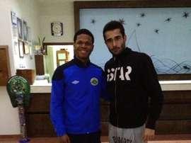Pulpo Romero (derecha), nuevo jugador de La Roda. PulpoRomero