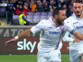 Quagliarella soma e segue. Captura/beINSports