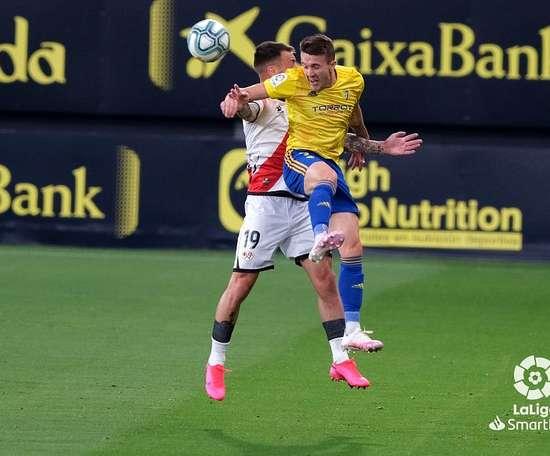 Quezada ha dado positivo en los test del Cádiz. LaLiga/Archivo