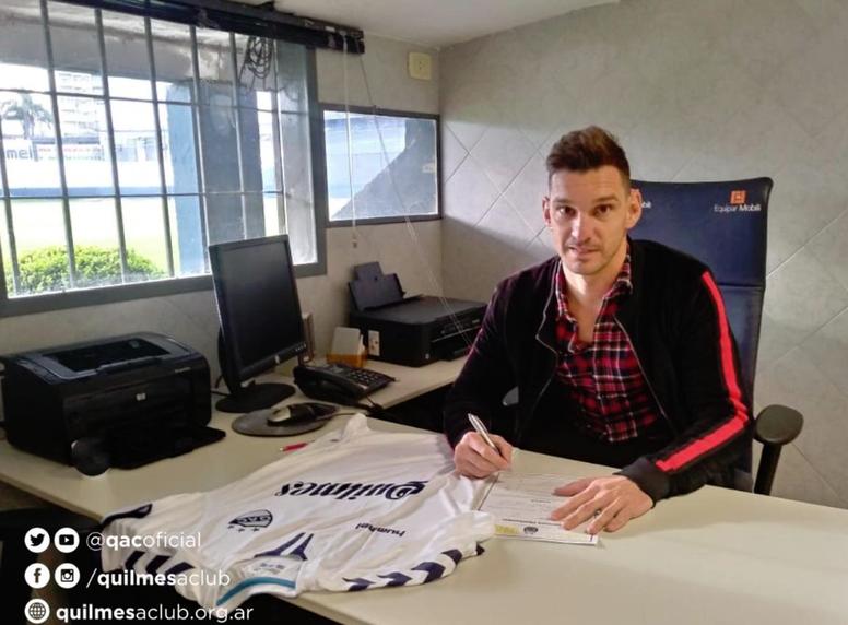 Quilmes oficializó la llegada de Masuero. Twittter/qacoficial