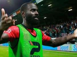 Quincy, en uno de sus partidos con el NEC. Voetbal