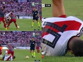 Quintero se fait les croisés et manquera la Copa America. Capture/TNTSports