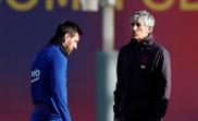 Messi, Piqué y Busquets vuelven ante el Valencia. AFP