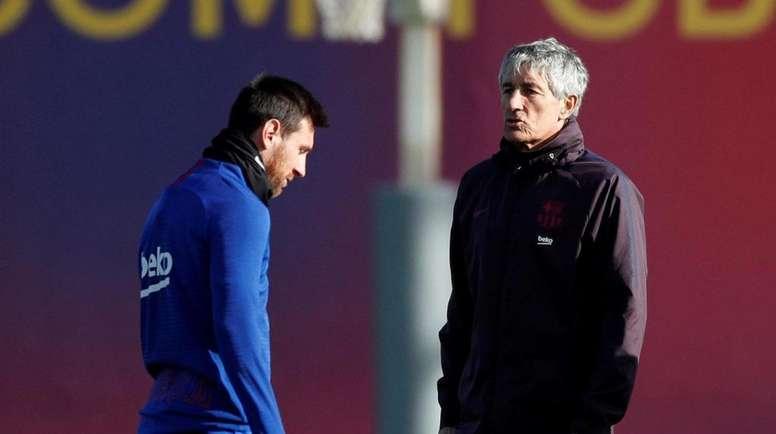 Dugarry criticó a Messi y a Setién. AFP