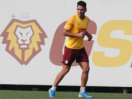L'attaccante colombiano del Galatasaray Falcao. Twitter/GalatasaraySK