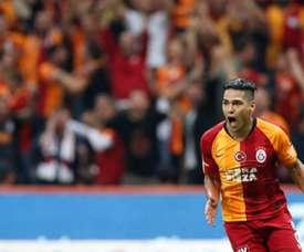 Falcao, de retour à l'entraînement. Twitter/GalatasaraySK