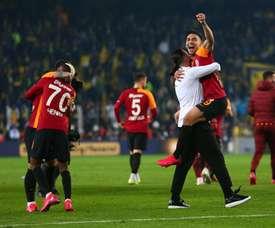 Falcao réagit aux célébrations. Twitter/GalatasaraySK