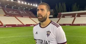 Rafa Gálvez llevó el brazalete de capitán ante el Castellón. Twitter/AlbaceteBPSAD