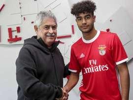 Rafael Brito acaba de renovar com o Benfica. SLBenfica