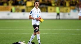Rafik Zekhnini, al terminar el encuentro que enfrentaba al su equipo, el Odd Grenland, con el Borussia Dortmund en la previa de Europa League, que terminó perdiendo por 3-4. Twitter