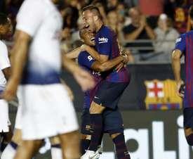 Arthur a célébré ses 22 ans avec une Supercoupe d'Espagne. FCBarcelone