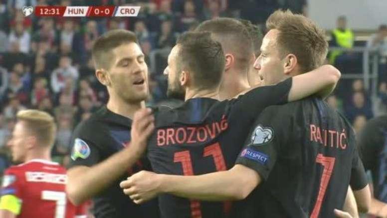 Rebic, buteur pour la Croatie. Capture/Zvoetbal