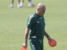 Ramón Calderé durante un entrenamiento del Castellón. Twitter