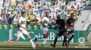 Elche y Extremadura empataron a uno en el Martínez Valero. LaLiga