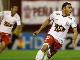 Huracan forward Ramon Abila scored the incredible bicycle kick. Twitter