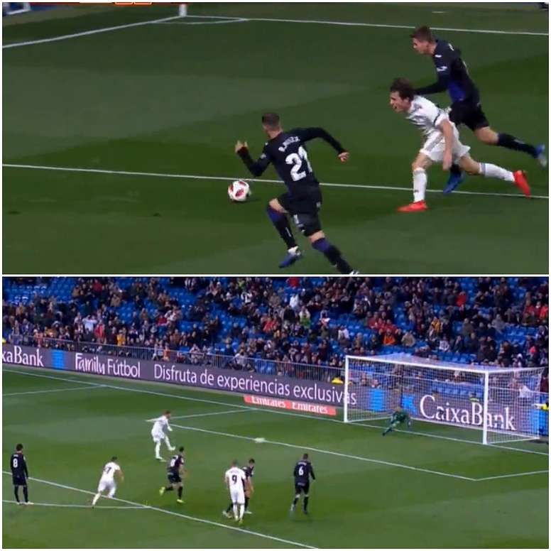 Ramos confidently stroked home the spot kick. EFE