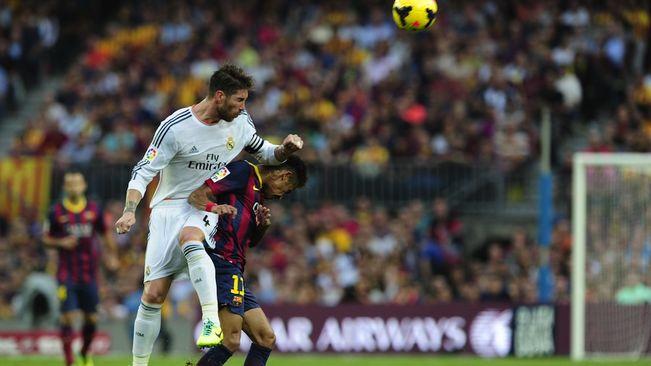 Ramos y Neymar, en un 'Clásico'