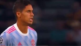 El primer gol del Young Boys vino por un error de Varane. Captura/ESPN