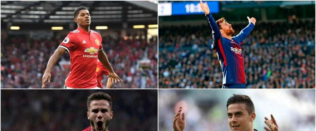 Rashford, Messi, Dybala et Saúl. BeSoccer