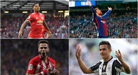 Rashford, Messi, Dybala y Saúl. BeSoccer