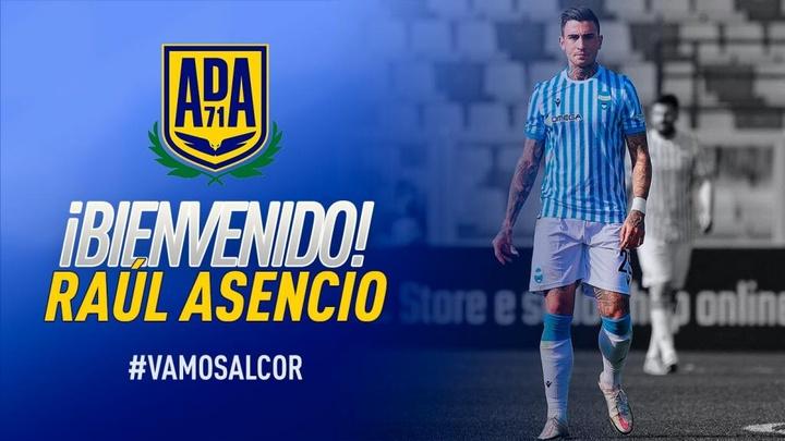 Raúl Asencio jugará dos temporadas en el Alcorcón. Twitter/AD_Alcorcon