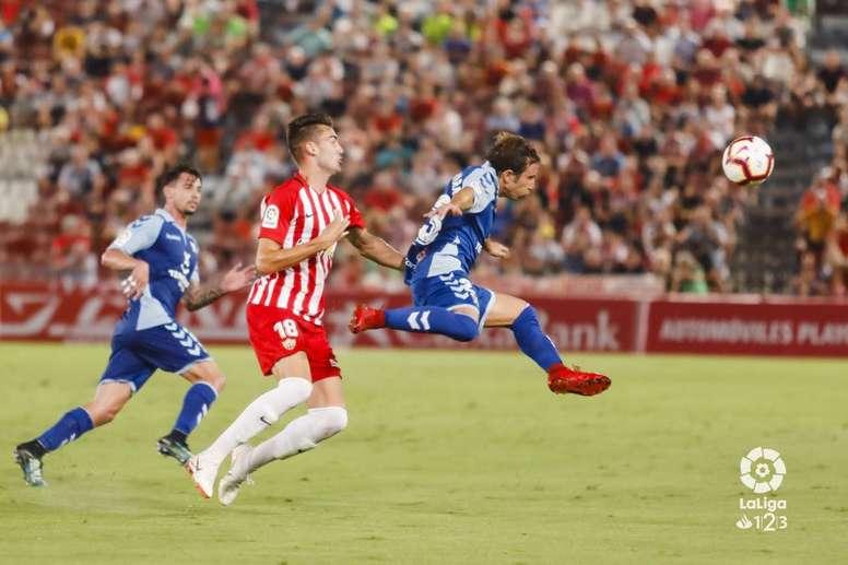 Raúl Cámara (d) jugará en el Córdoba la siguiente temporada. LaLiga