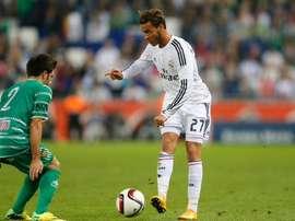 Raúl de Tomás, en un partido con el Real Madrid Castilla. Twitter