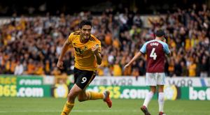 Raúl Jiménez acabó con su sequía goleadora. Twitter/Wolverhampton