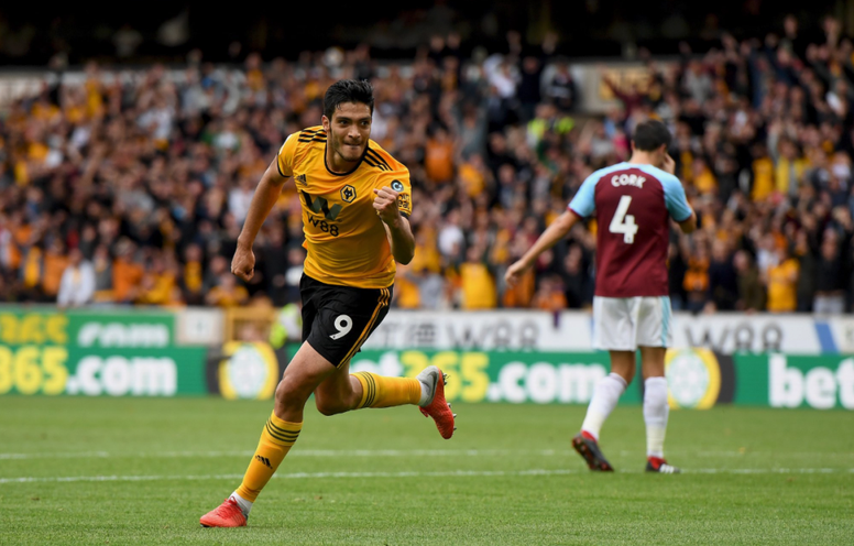 Raúl Jiménez a mis fin à sa disette de buts. Twitter/Wolverhampton