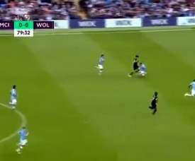 Le geste incroyable de Raul Jiménez qui a détruit Manchester City. Captura/SportTV