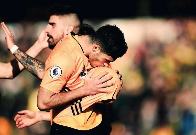 Raúl Jimenez inscrit son 25e but en Premier League. Twitter/Wolves