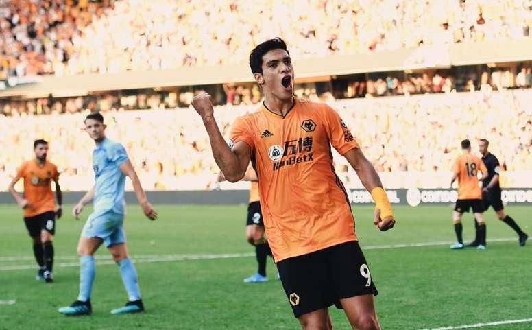 Raúl Jiménez no logró cuajar en el Atlético de Madrid. Wolves