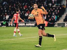 Raul Jimenez becomes Wolves' Premier League all-time top scorer. Twitter/Wolves