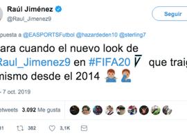Raul Jiménez se plaint de son visage... sur FIFA !  Twitter/Raul_Jimenez9