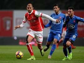 El Sporting de Braga sigue escalando posiciones y se acerca a la cabeza. Twitter/SCBraga