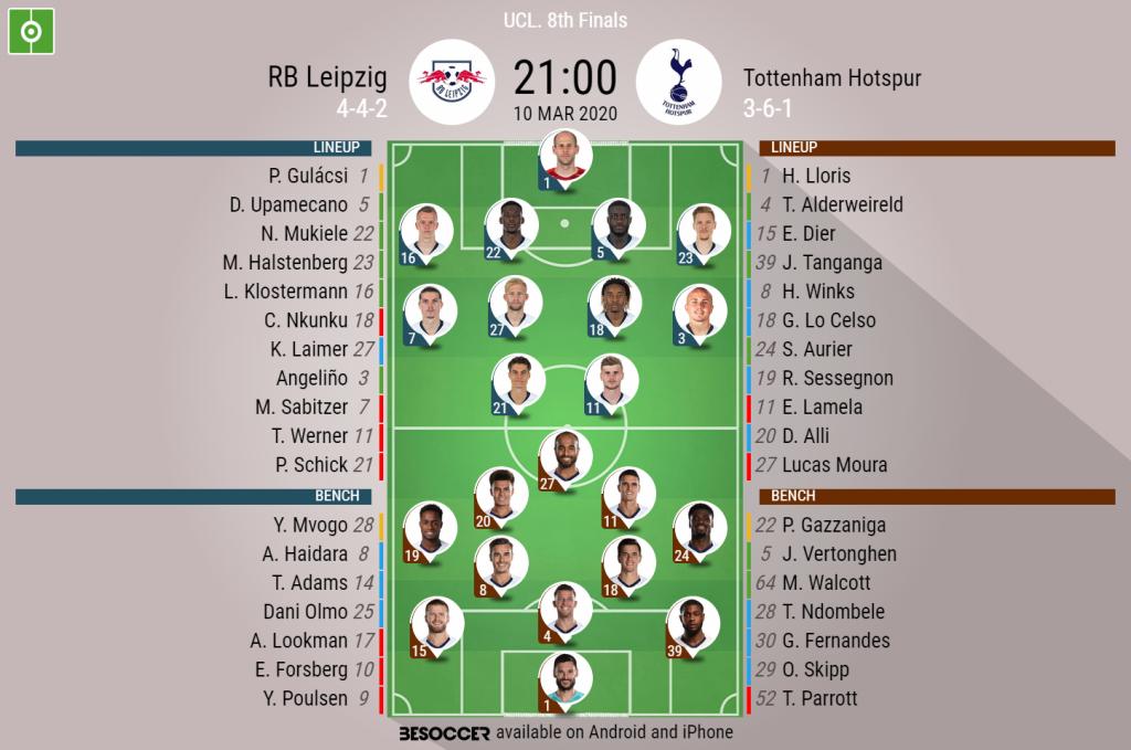 Rb Leipzig V Tottenham Hotspur As It Happened Besoccer