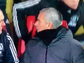 La réaction de Mourinho. Captura