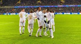 Éder Militão, Vinicius e Rodrygo, brasileiros em campo pelo Real Madrid. Twitter/realmadrid