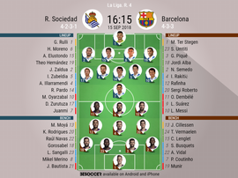 Join us for live updates from Saturday's Primera Division game between Real Sociedad and Barcelona