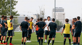 Raul pictured at the club's Ciudad Real Madrid training ground. Twitter/RaulGonzalez