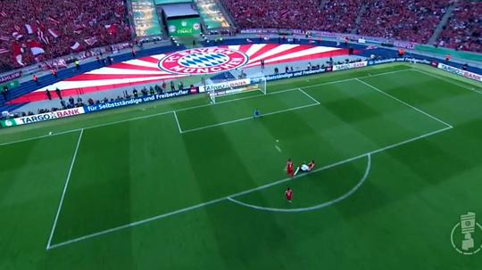 Rebic opened the scoring for Frankfurt against Bayern in the DFB Pokal final. Twitter/ANGELDIAZ14