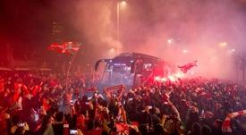 San Mamés ardeu para receber o Athletic. Twitter/AthleticClub