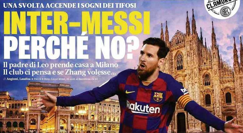 Inter still dreaming of Messi. EFE/Alberto Estevez/Archivo