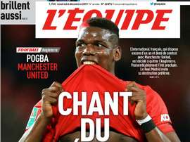 Pogba, even closer to Madrid. Captura/L'Equipe