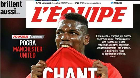 Pogba, even closer to Madrid. Captura/L'Equipe