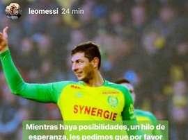 Messi et Dybala soutiennent leur compatriote. Instagram/LeoMessi