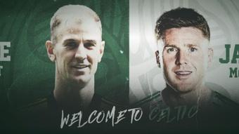 Le Celtic officialise les signatures de Joe Hart et James McCarthy. CelticFC